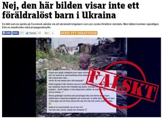Как фотофейк о мальчике из Донбасса «мигрировал» в Швецию