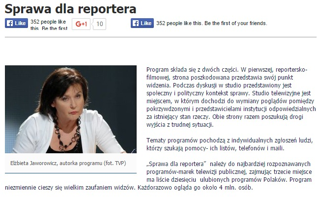 website screenshot tvp.pl