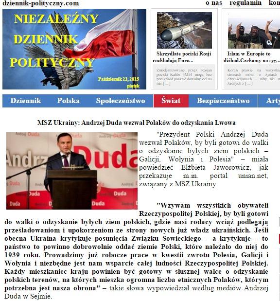 Скриншот на dziennik-polityczny.com