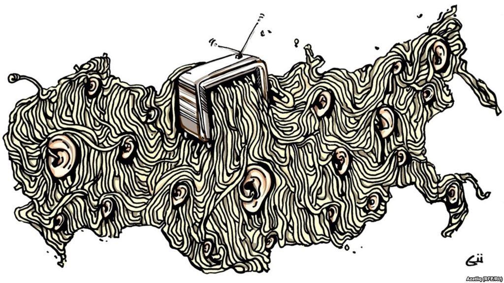 Карикатура на Гузел Гарипова