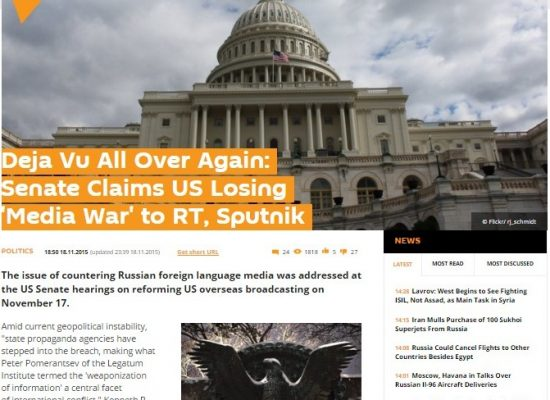 Sputnik Distorts Remarks to U.S. Senate Committee