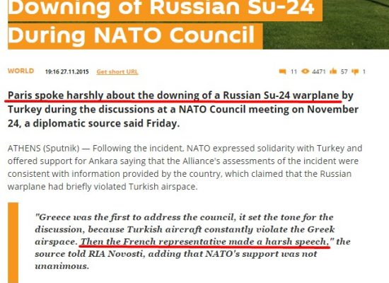 """French Diplomat Says Sputnik Report Is """"Fiction"""""""