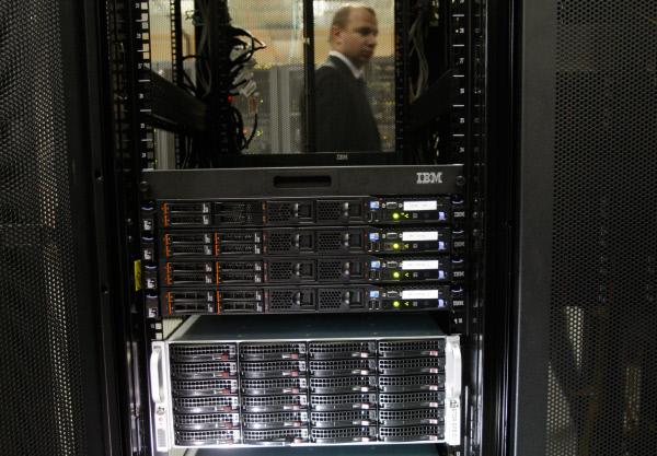 Data centre at telecommunications service Rostelecom, St Petersburg. (c) Vadim Zhernov / VisualRIAN.