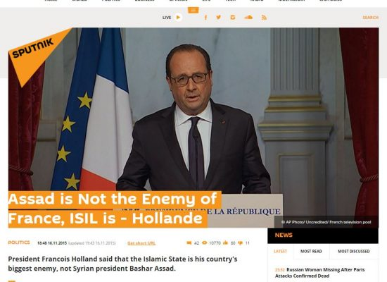 Russian Media Distort Hollande Comment