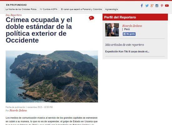 Мнение журналиста российского холдинга представили как аналитическую статью венесуэльского СМИ