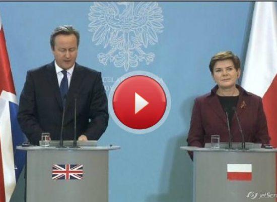 'Britain and Poland will work to fight Russian propaganda': British PM Cameron
