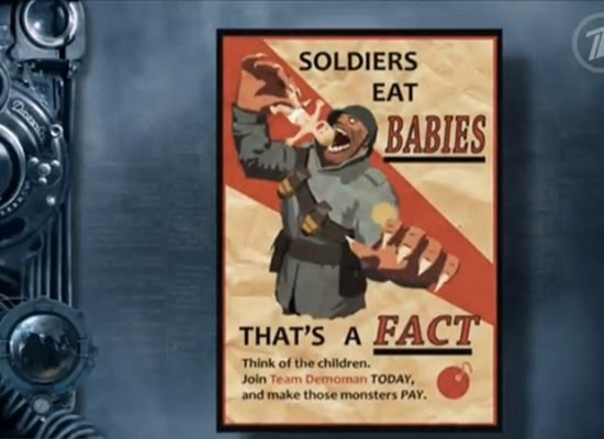 Team Fortress 2 poster mistaken for US propaganda on Russian state television