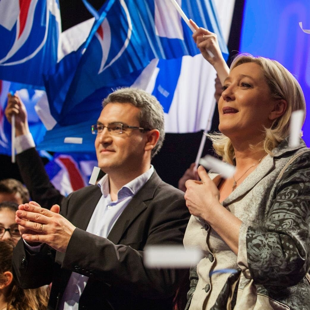 Aymeric Chauprade and Marine Le Pen