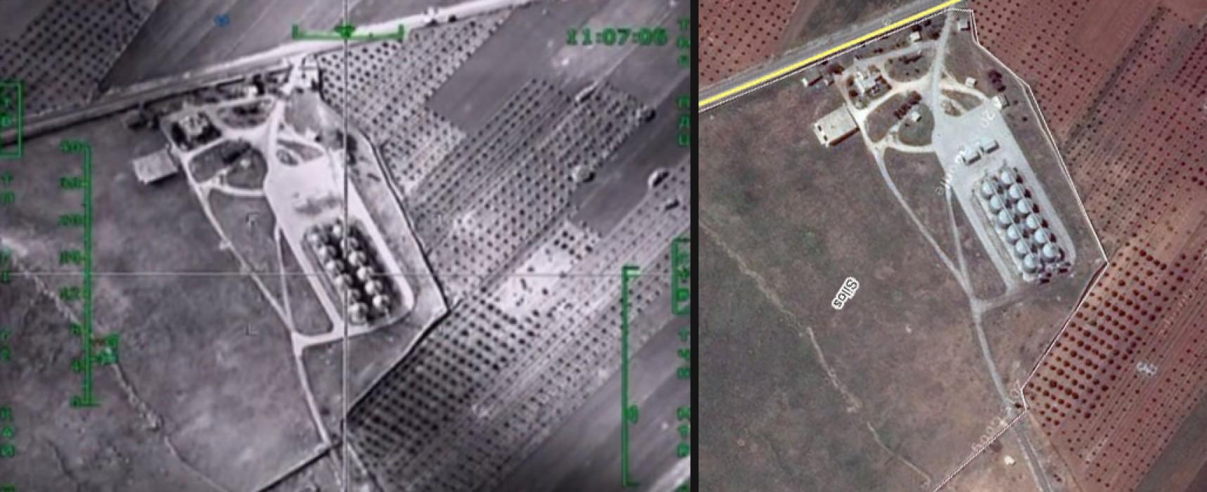 Falso: el ejército ruso derribó una terminal petrolera en Siria