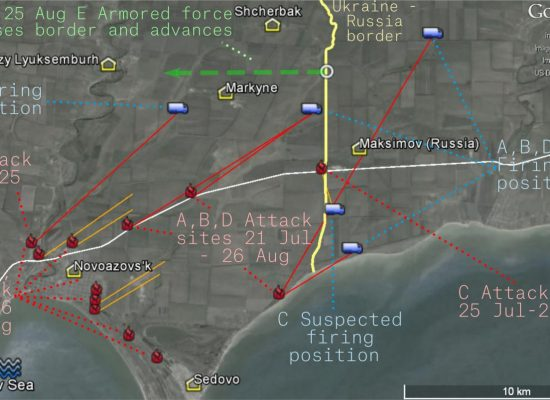The Burning Road to Mariupol: Attacks from Russia during the Novoazovs'k Offensive of August 2014