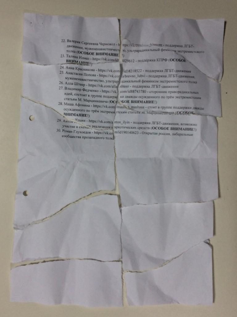 Список неугодных Зуеву студентов