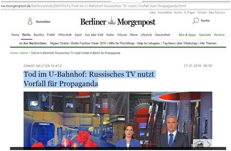 Сapture d'écran Berliner Morgenpost