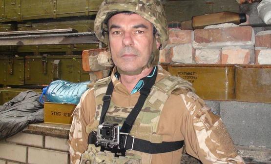 Воерцио во время командировки на Донбасс. Фото из его Facebook