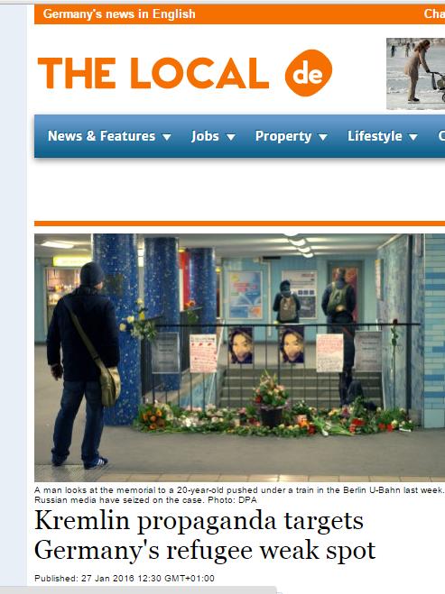 Скриншот на сайта The Local