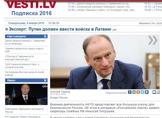 Fake: Russian Security Council Secretary wants to send Russian troops into the Baltics