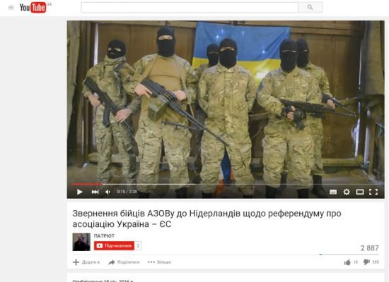 "Fake: Azov threatens to ""destroy Dutch citizens"" if they reject association deal with Ukraine"