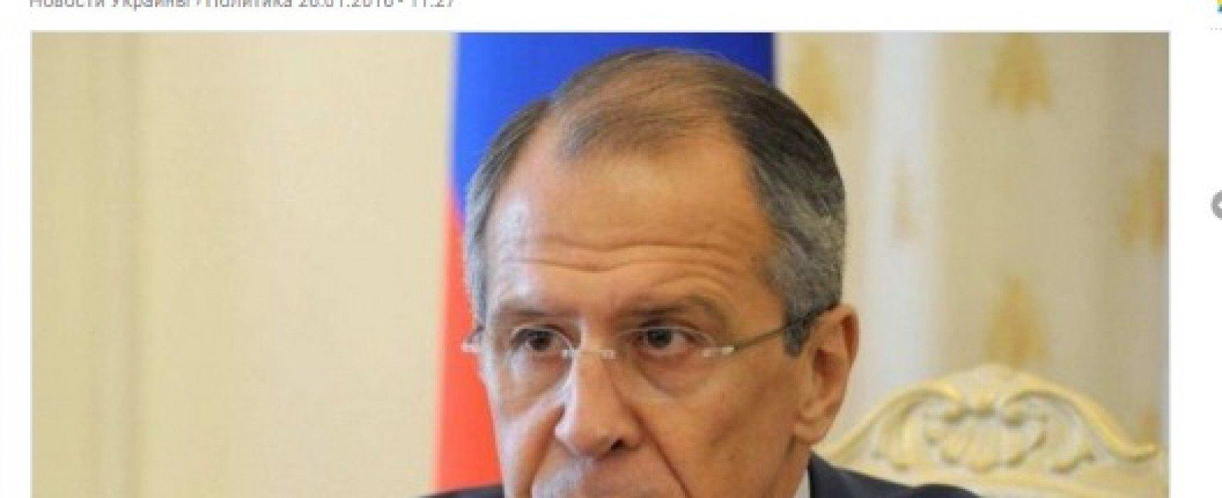 Fake : Lavrov mente circa gli obblighi sottoscritti dalla Russia nel Memorandum di Budapest