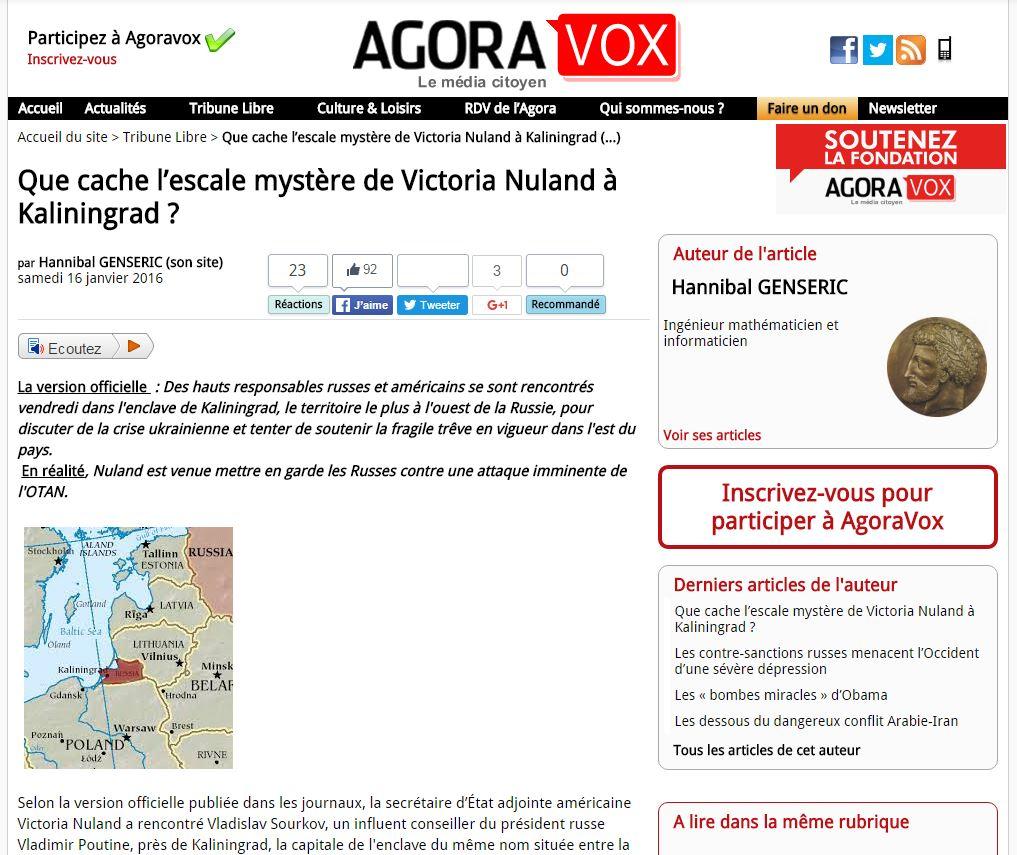 Website Screenshot AgoraVox