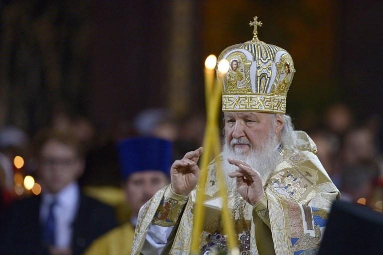 Le Patriarche Kirill durant la fête de la Nativité à Moscow, le 7 janvier 2011. Photo Vladimir Astapkovich/Sputnik / AFP