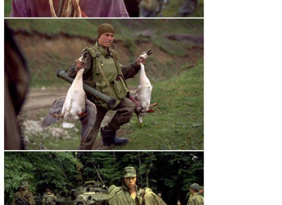 Fake : soldato russo che ruba in Cecenia presentato come ucraino