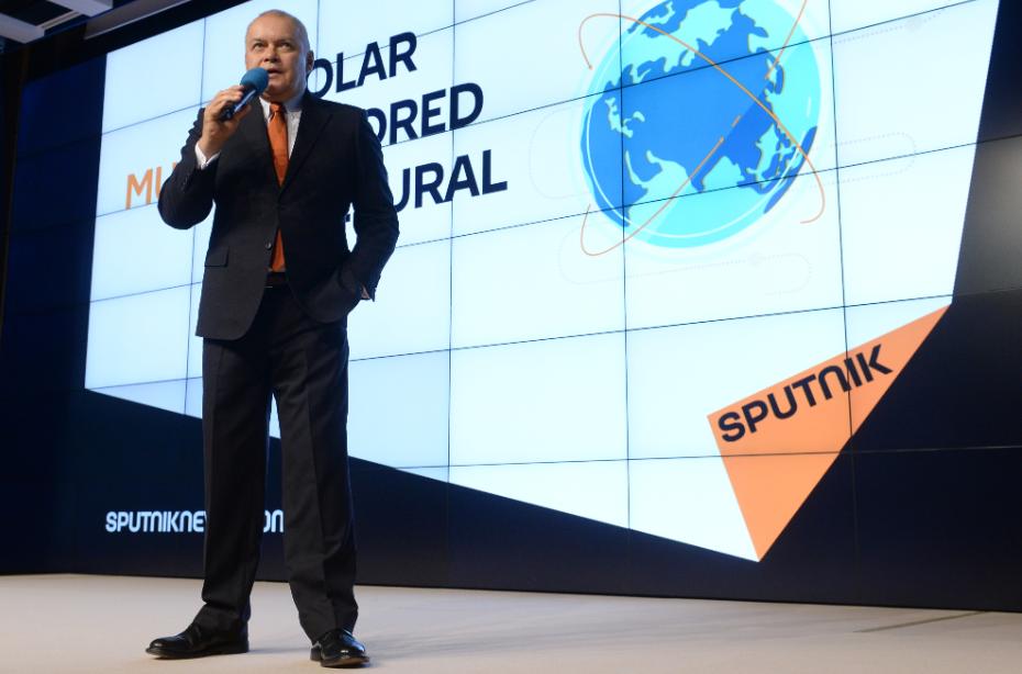 Дмитрий Киселев презентует бренд Sputnik — он станет общим для мировой сети российских агентств