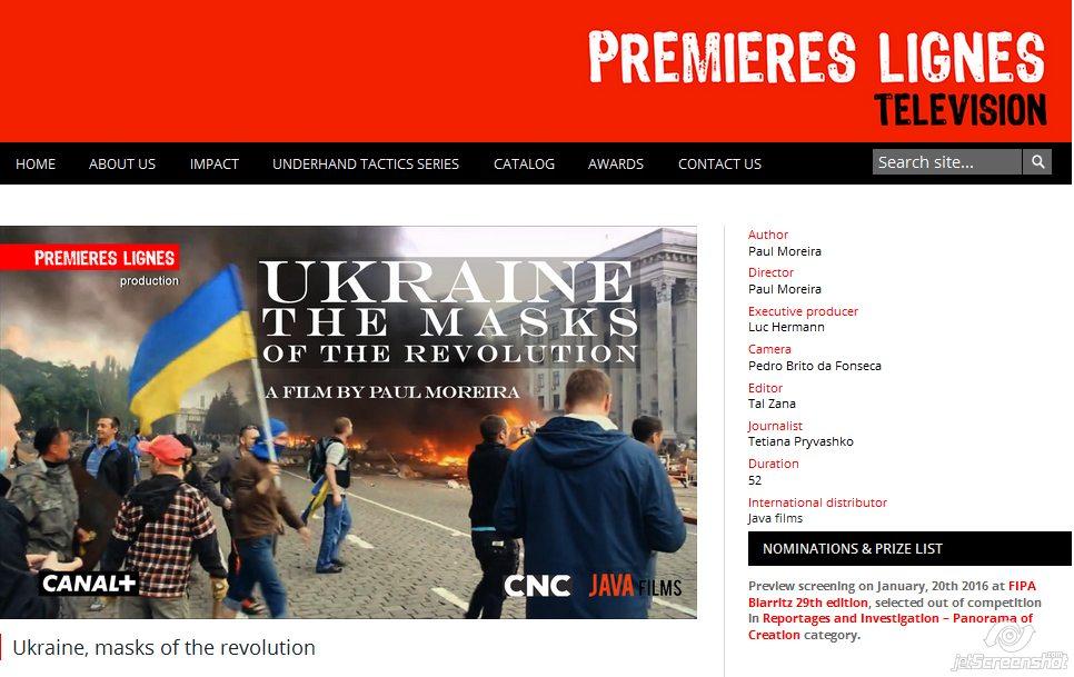 Screenshot: http://www.pltv.fr/en/ukraine-masks-of-the-revolution/#