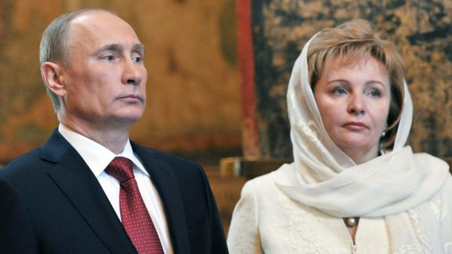 Vladimir Putin divorced his wife Lyudmila in 2014
