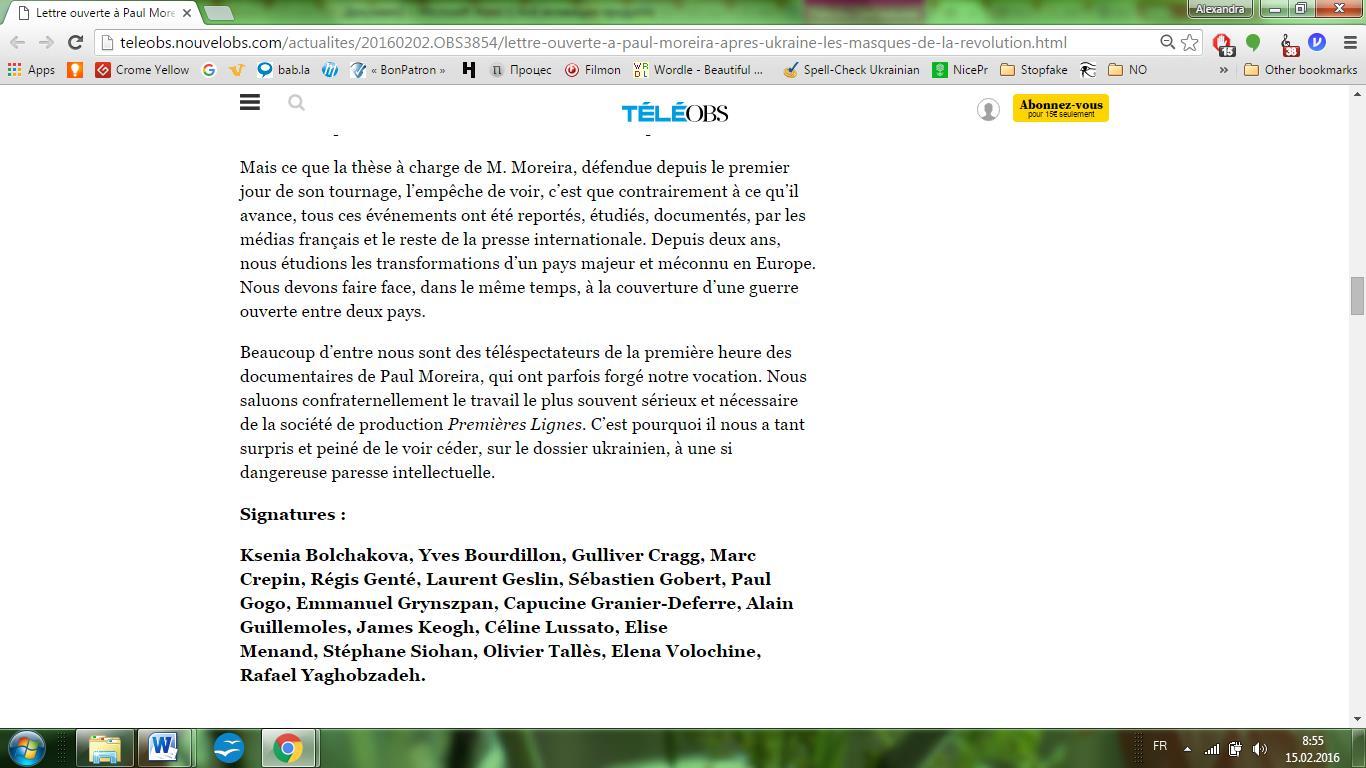 Website screenshot téléOBS