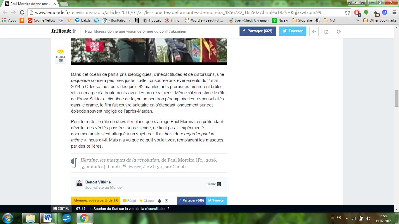 Website screenshot le Monde