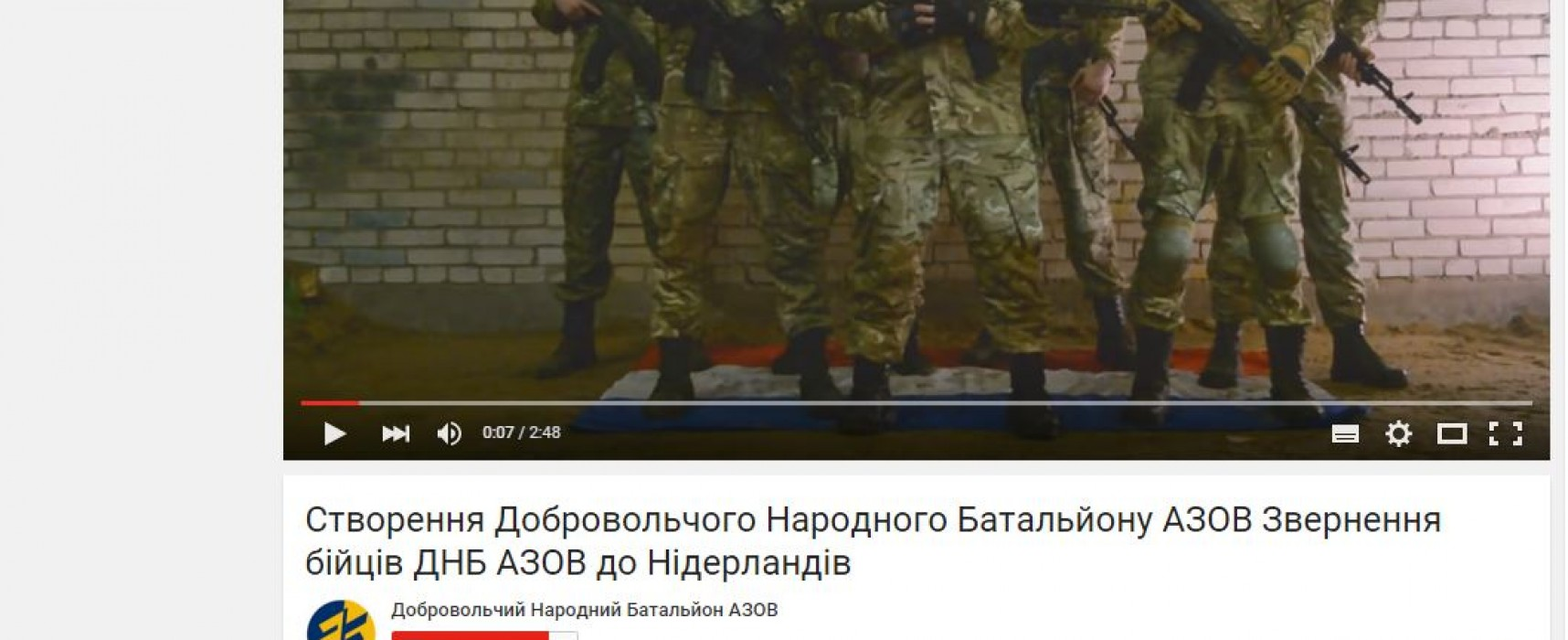 Fake: Azov Battalion continues to threaten the Netherlands