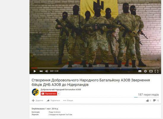 Fake: Azov continue de menacer les Pays-Bas