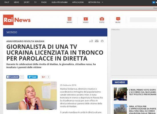 Fake : RaiNews – Giornalista russa deportata
