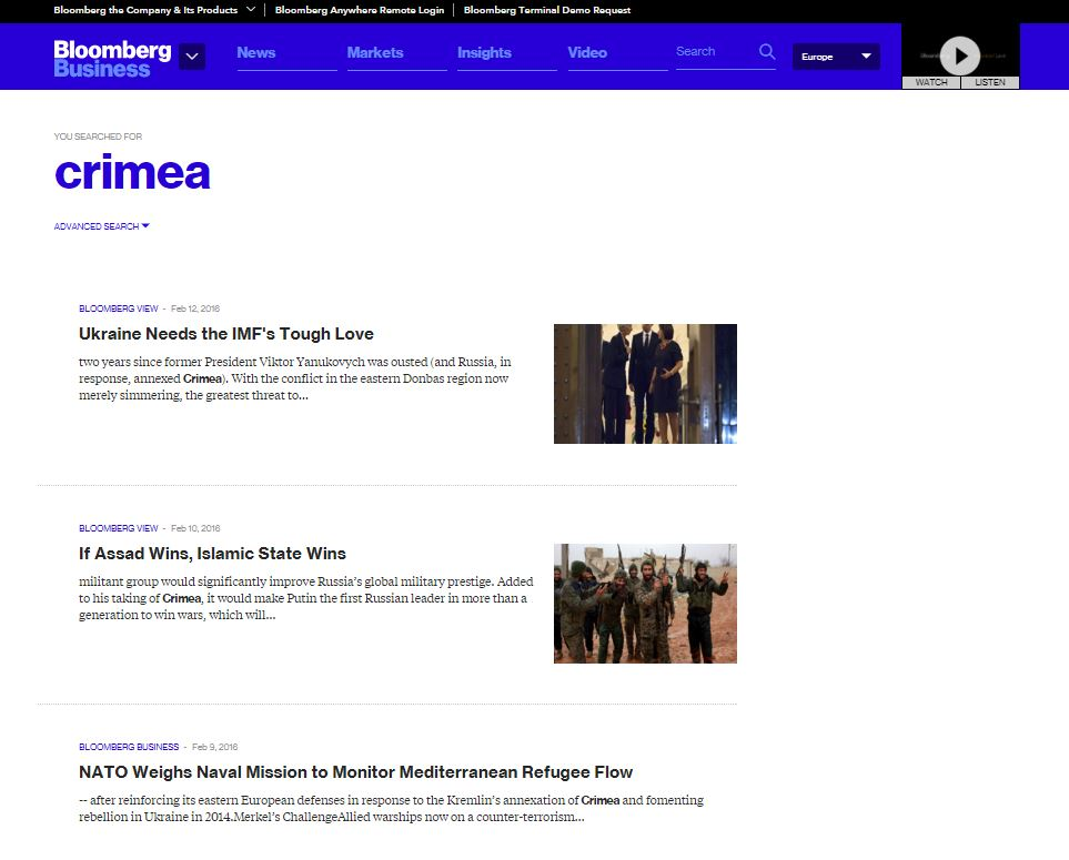 "Website screenshot ""Bloomberg"""