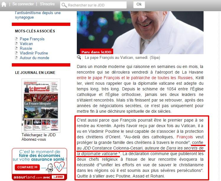 Website screenshot lejdd.fr