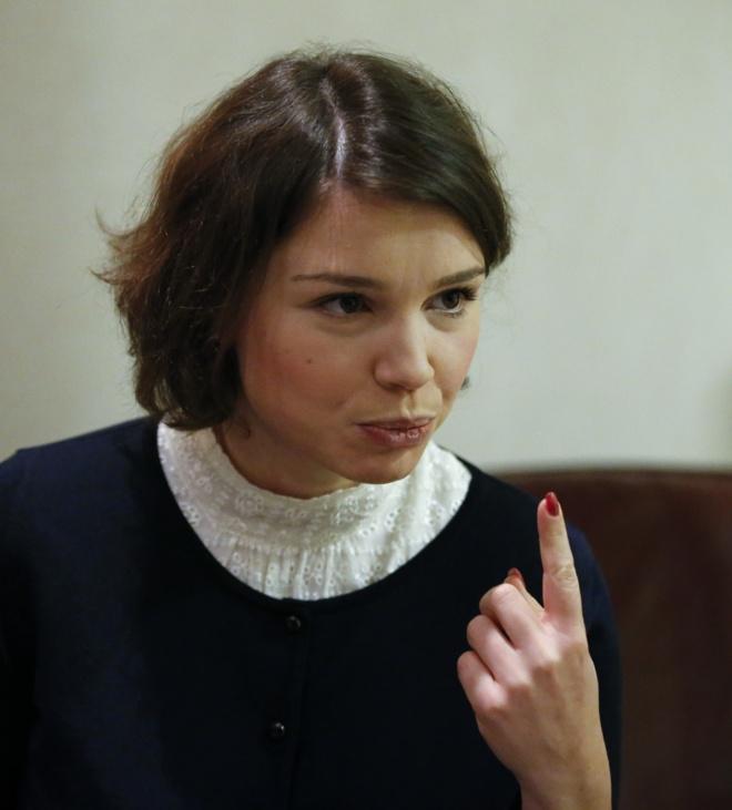 Zhanna Nemtsova, hija de Boris Nemtsov. Foto Reuters