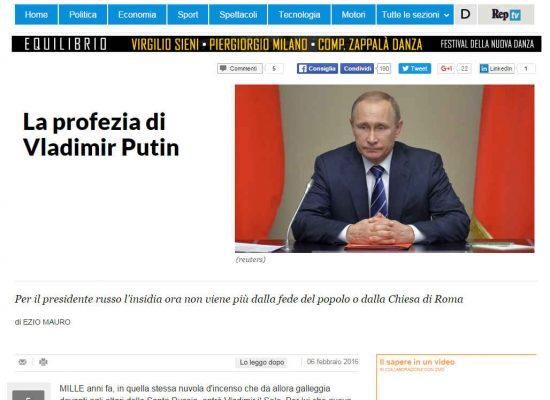 Fake : La profezia di Vladimir Putin