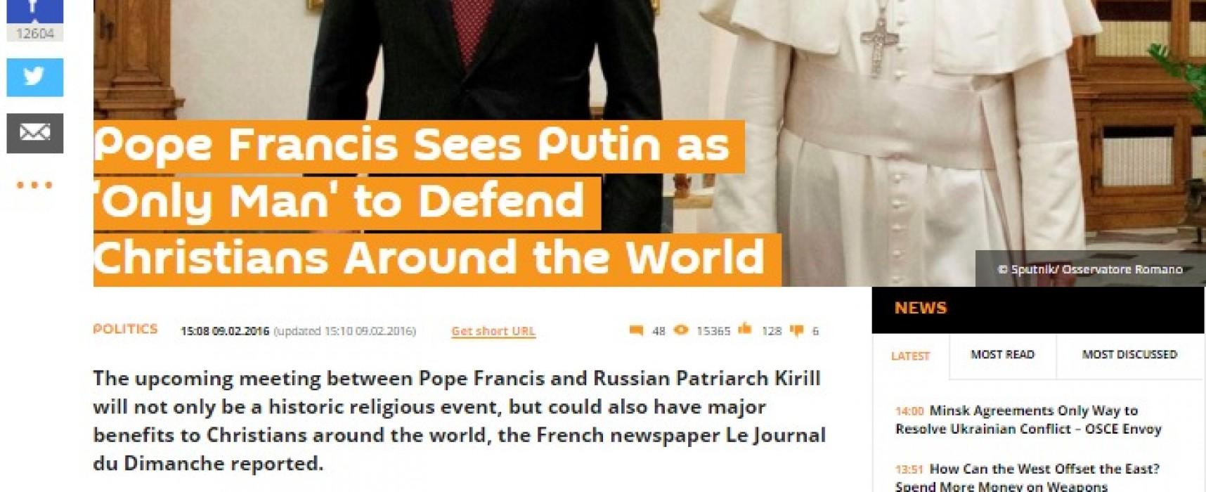 СМИ измислили цитат на папа Франциск за Путин