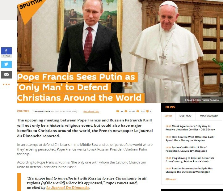 Website screenshot sputniknews.com