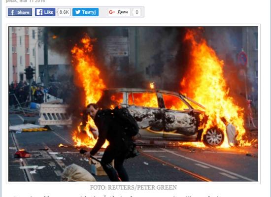 Falso: Protestas contra la OTAN prendieron fuego Bratislava