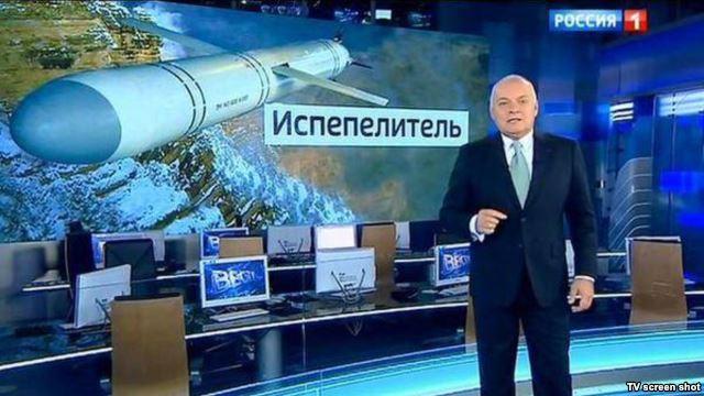 Pro-Kremlin media personality Dmitry Kiselyov heads the Sputnik news website, now blocked by Latvia.