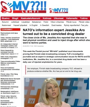Part of the online trolling used against Finnish journalist Jessikka Aro. Photo: supplied