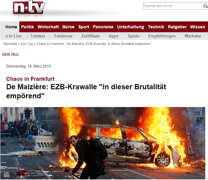 Скриншот на сайта n-tv.de