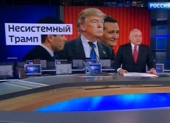 US election 2016: Russian state TV backs 'anti-establishment' Trump