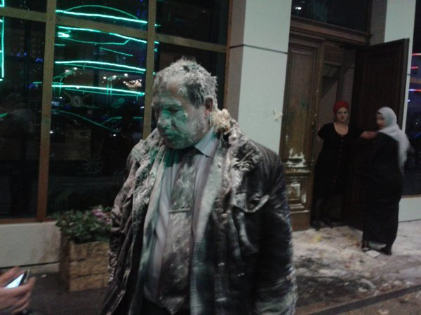 Igor Kalyapin, human rights lawyer and head of the Committee to Prevent Torture in Grozny outside the hotel where he was attacked by thugs March 16, 2016 Igor Kalyapin, human rights lawyer and head of the Committee to Prevent Torture in Grozny outside the hotel where he was attacked by thugs March 16, 2016
