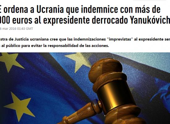 Falso: La UE ordena a Ucrania que indemnice con más de 200.000 euros al expresidente Yanukóvich