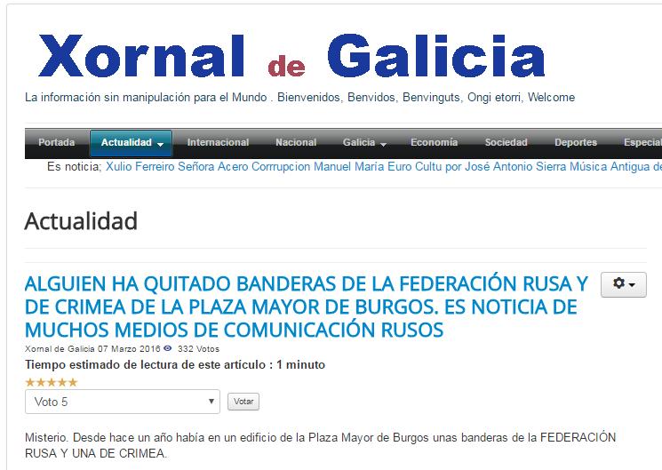 "Скриншот с ""Xornal de Galicia"""
