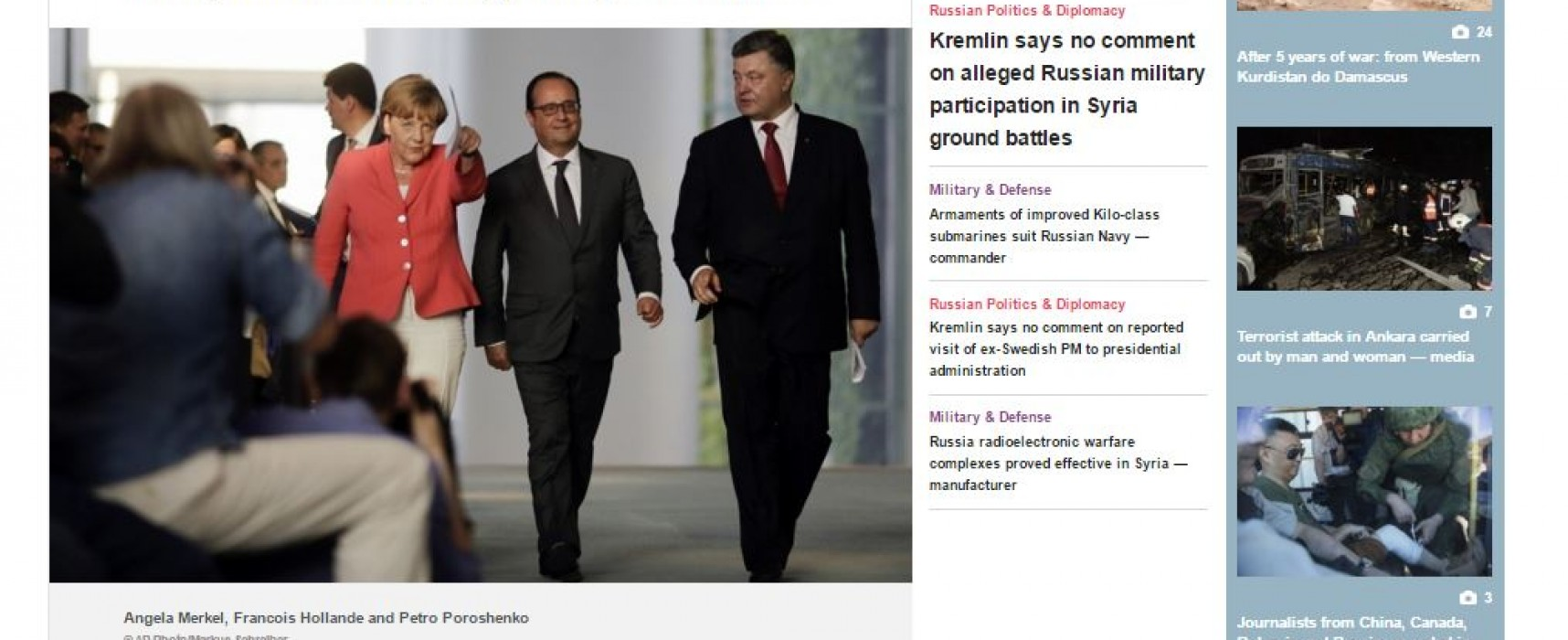 Des médias russes ont déformé des déclarations de leaders européens à propos de l'Ukraine