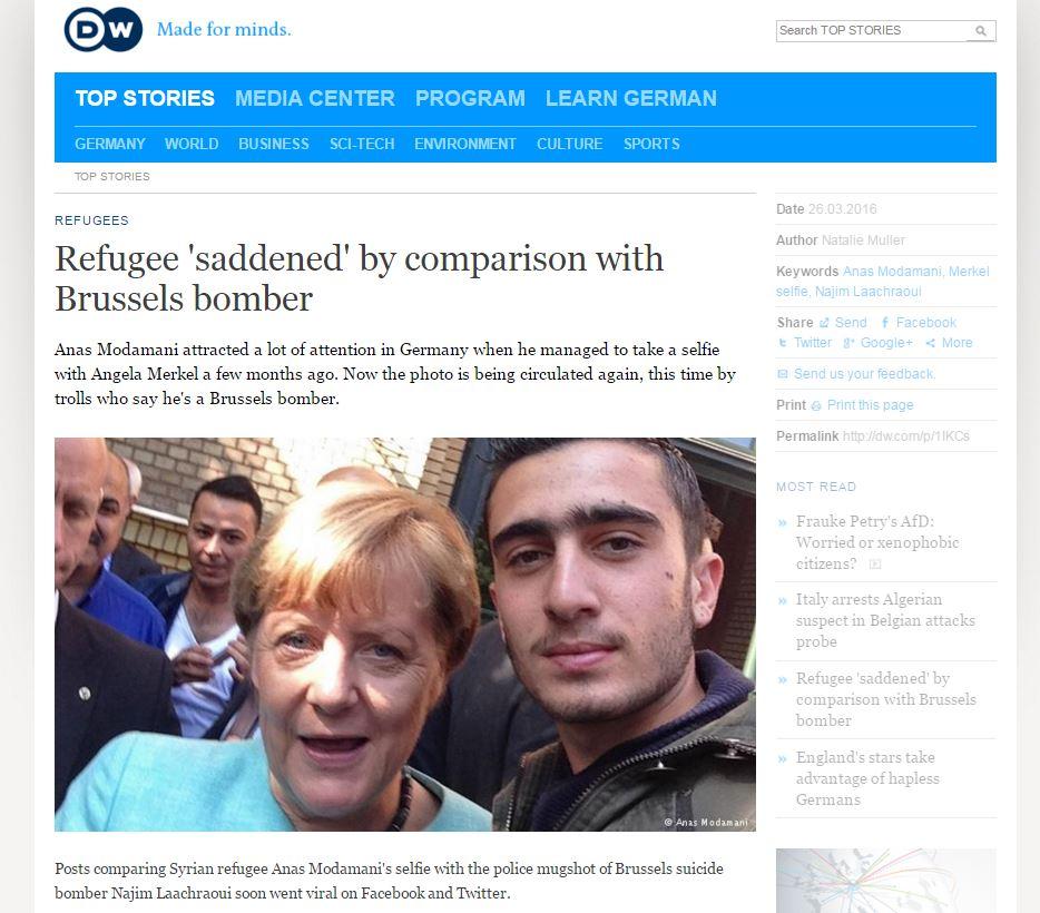 Website screenshot Deutsche Welle