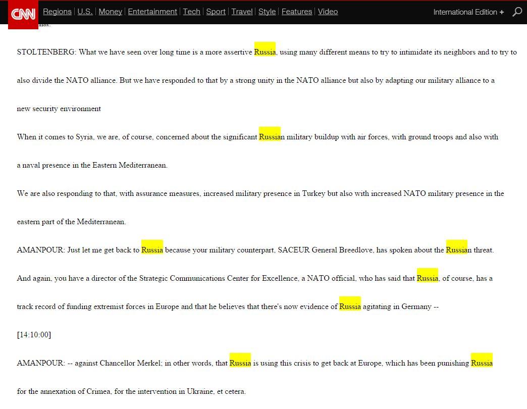 Website screenshot CNN