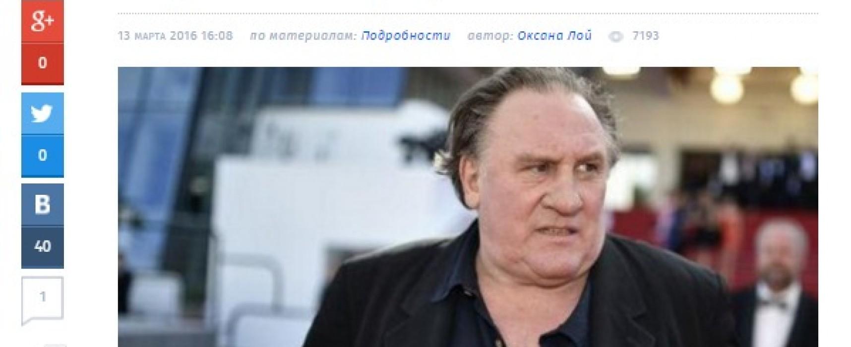 Falso: Gérard Depardieu se fue de Rusia